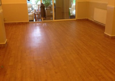 Karndean American oak to nursing home lounge area