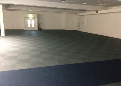Cfs Europa carpet tiles to auditorium