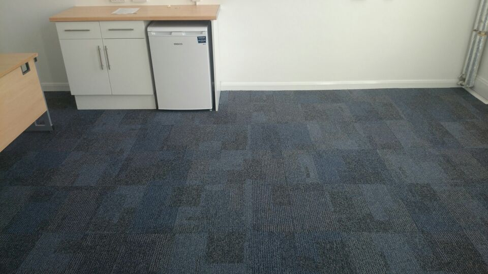 Replace old worn carpet with new transformation carpet tiles